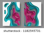 vector paper cut layouts design ... | Shutterstock .eps vector #1182545731