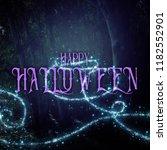 halloween mysterious background ... | Shutterstock . vector #1182552901