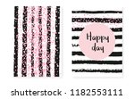 pink glitter sequins with dots. ... | Shutterstock .eps vector #1182553111