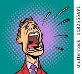 Man Screams. Panic. Comic...