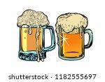 beer foam isolate on white...   Shutterstock .eps vector #1182555697
