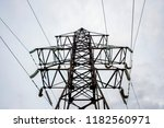 electricity transmittion pylon... | Shutterstock . vector #1182560971