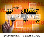 cyber security technology hack... | Shutterstock . vector #1182566707