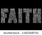Word Faith In White Written...
