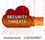 cybersecurity threats cyber... | Shutterstock . vector #1182569887
