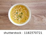 chicken noodle soup | Shutterstock . vector #1182570721