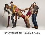 group of friends having fun... | Shutterstock . vector #118257187