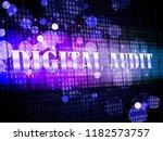 digital audit cyber network... | Shutterstock . vector #1182573757
