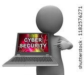 cybersecurity technology... | Shutterstock . vector #1182576271