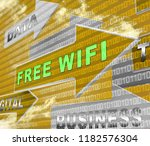 free wifi anywhere wireless... | Shutterstock . vector #1182576304