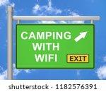 wifi camping internet access... | Shutterstock . vector #1182576391