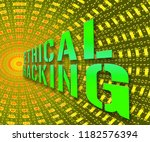 ethical hacking data breach... | Shutterstock . vector #1182576394