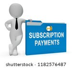 subscription payment monthly... | Shutterstock . vector #1182576487