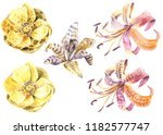 Wild Skin Flowers  Watercolor