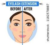 eyelash extension. vector...   Shutterstock .eps vector #1182578887