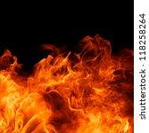 blaze fire flame texture...   Shutterstock . vector #118258264