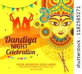 illustration of garba festival... | Shutterstock .eps vector #1182585271