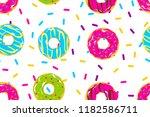 glazed doughnut seamless...   Shutterstock .eps vector #1182586711