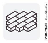 concrete paver block floor icon ...   Shutterstock .eps vector #1182588817
