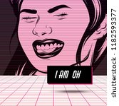 i am ok. vector poster with...   Shutterstock .eps vector #1182593377
