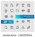 discovery icons. set of line... | Shutterstock .eps vector #1182599041