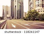 avenue in modern city   Shutterstock . vector #118261147