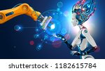 robot with artificial... | Shutterstock .eps vector #1182615784