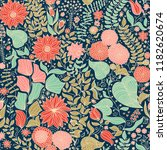seamless floral pattern in folk ... | Shutterstock .eps vector #1182620674