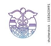 caduceus healthcare medicine... | Shutterstock .eps vector #1182623491