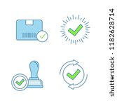 approve color icons set....   Shutterstock .eps vector #1182628714