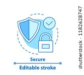 security concept icon. reliable ... | Shutterstock .eps vector #1182628747