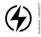 electric power sign glyph icon. ... | Shutterstock .eps vector #1182628777