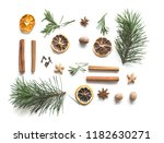 christmas drink mulled wine.... | Shutterstock . vector #1182630271