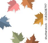 paper cut style maple leaves...   Shutterstock .eps vector #1182638797