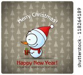 christmas greeting card with... | Shutterstock .eps vector #118264189