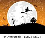 halloween background.halloween... | Shutterstock . vector #1182643177
