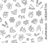seamless pattern with christmas ... | Shutterstock .eps vector #1182645724