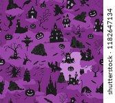 halloween holiday seamless... | Shutterstock .eps vector #1182647134