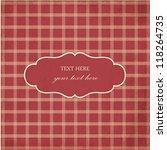 plaid design  vintage frame.... | Shutterstock .eps vector #118264735