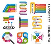 collection infographics. design ... | Shutterstock .eps vector #1182652051