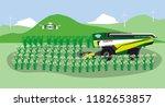 robotic combine harvester crop ... | Shutterstock .eps vector #1182653857