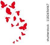 beautiful red butterflies ...   Shutterstock . vector #1182656467