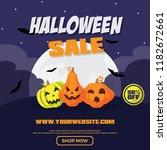 halloween sale banner template. ... | Shutterstock .eps vector #1182672661