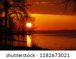 Relaxing sunset on beautiful Lake Koshkonong