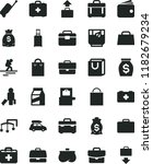 solid black flat icon set... | Shutterstock .eps vector #1182679234