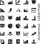 solid black flat icon set... | Shutterstock .eps vector #1182679264