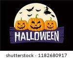 happy halloween text banner | Shutterstock .eps vector #1182680917