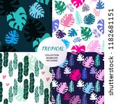 beautiful seamless patterns... | Shutterstock .eps vector #1182681151