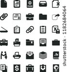 solid black flat icon set clip... | Shutterstock .eps vector #1182684064