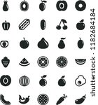 solid black flat icon set hot... | Shutterstock .eps vector #1182684184